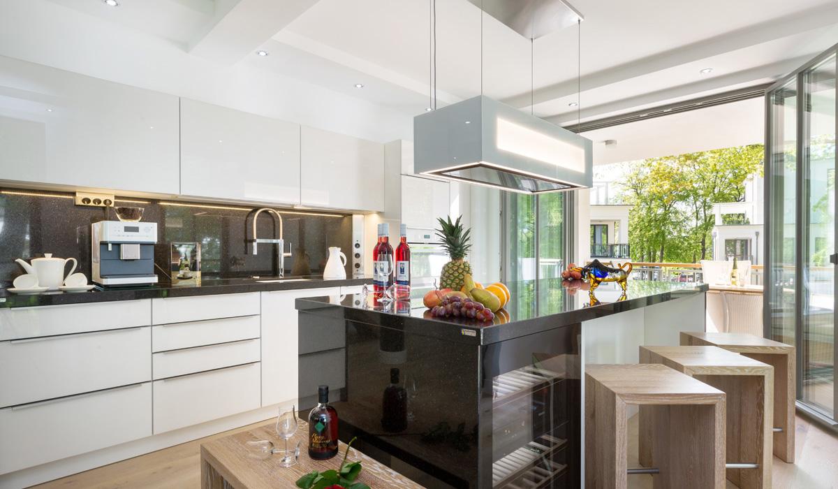 Küche 24  Die Ferienwohnungen in der Villa Mathilde im Ostseebad Binz 24