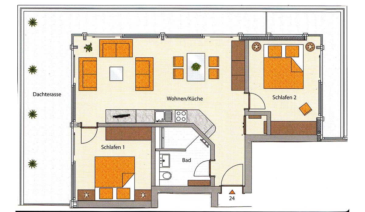 die ferienwohnungen in der villa poseidon im ostseebad binz 24. Black Bedroom Furniture Sets. Home Design Ideas